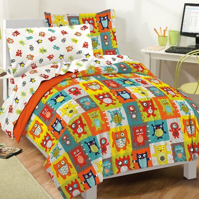 Silly Monsters Bed-In-A-Bag Set Size: Twin