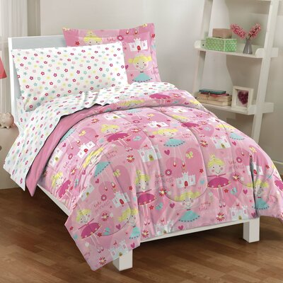 Pretty Princesses Bed-In-A-Bag Set Size: Twin