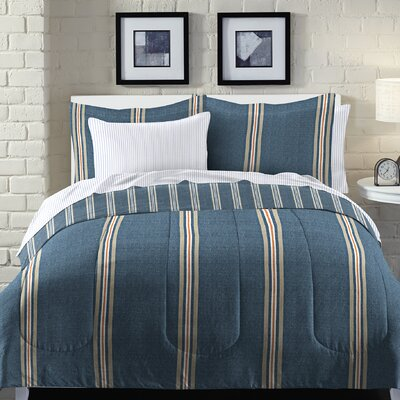 Heathered Stripe Bed-In-a-Bag Set Size: Queen