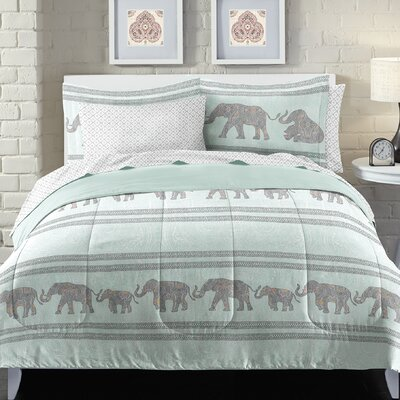 Boho Elephant Bed in a Bag Set Size: Queen