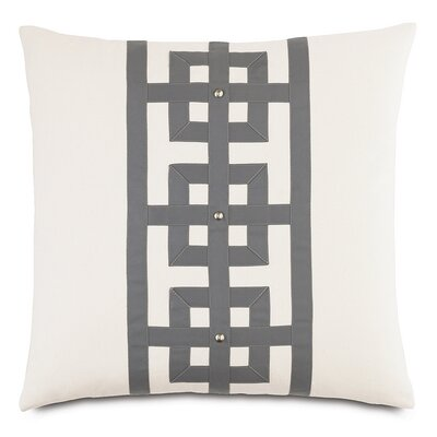 Modern Asian Tranquil Row Down Throw Pillow