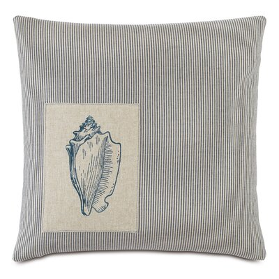 Nautical Seashell Down Throw Pillow