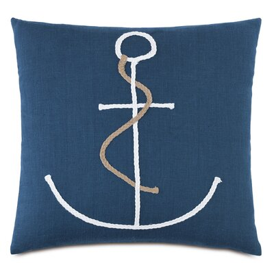 Nautical Braided Anchor Down Throw Pillow