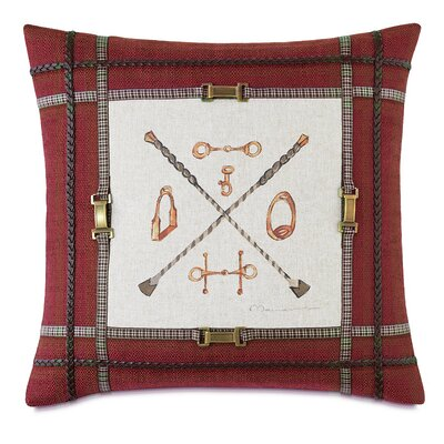 Equestrian Tackle Down Throw Pillow