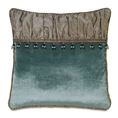 Monet Dunaway Ruched Down Throw Pillow