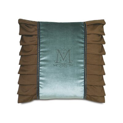 Monet Ocean Monogram Down Throw Pillow