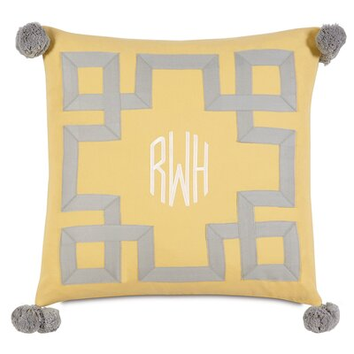 Epic Sunshine Embroidered 3-Letter Monogram Down Throw Pillow