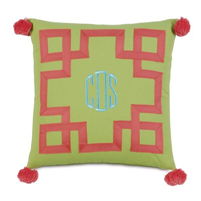 Epic Splash Embroidered 3-Letter Monogram Down Throw Pillow