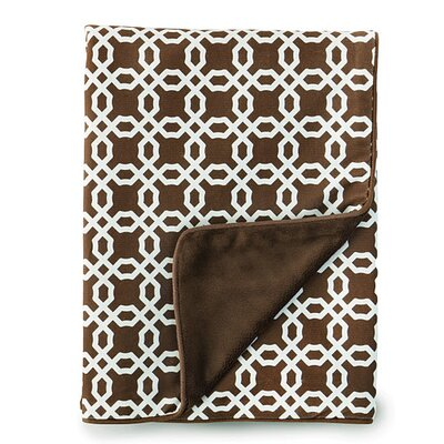 Lattice Nursery Blanket in Chocolate