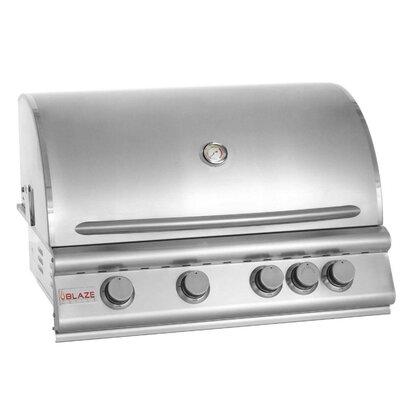 Blaze 32-Inch 4-Burner Natural Gas Grill With Rear Infrared Burner On Cart - BLZ-4-NG 2859460