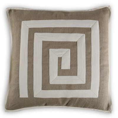 Maubeuge Greek Key Linen/Cotton Throw Pillow