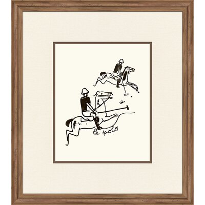 Le Polo Framed Graphic Art IP20072
