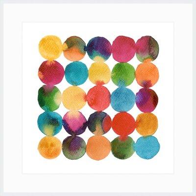 Circles Framed Painting Print LC18376
