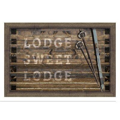 Lodge Sweet Lodge Framed Textual Art