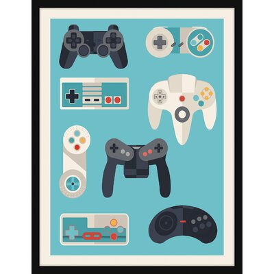 'Game Controllers' Framed Graphic Art Print IP28270