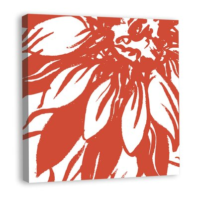 Bloomy Burst I Graphic Art on Wrapped Canvas Color: Red mv12248C