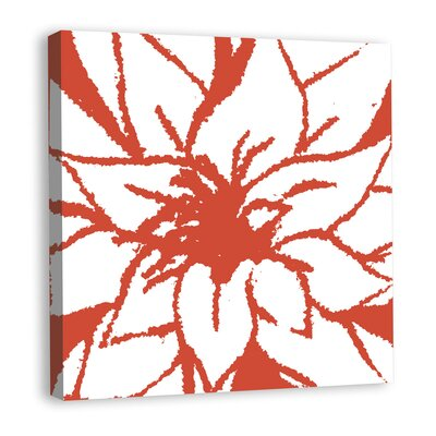 Bloomy Burst II Graphic Art on Wrapped Canvas Color: Red mv12249C