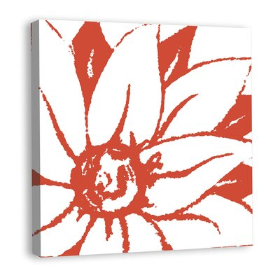 Bloomy Burst III Graphic Art on Wrapped Canvas Color: Red mv12250C