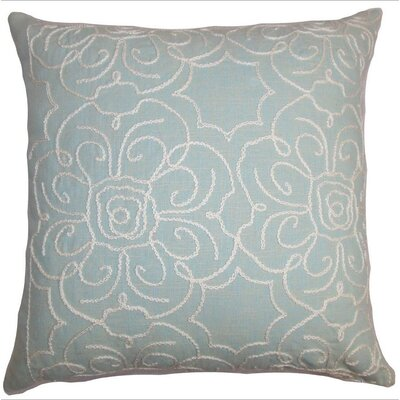 Chalda Floral Throw Pillow Color: Aqua, Size: 18 x 18