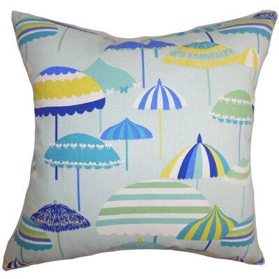 Yaffa Geometric Cotton Throw Pillow Color: Springtime, Size: 18x18