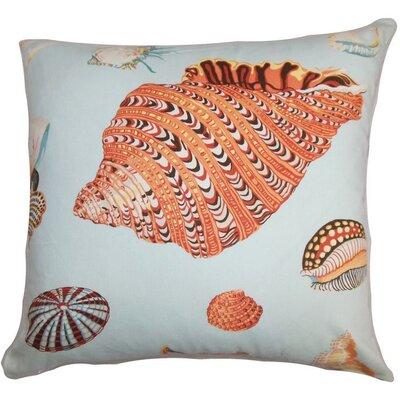 "Rayen Coastal Cotton Throw Pillow Color: Pool, Size: 22"" x 22"" P22-D-21020-POOL-C100"