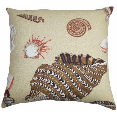 "Rayen Coastal Cotton Throw Pillow Color: Sand, Size: 22"" x 22"" P22-D-21020-SAND-C100"