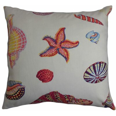 "Dori Cross Stitch Cotton Throw Pillow Cover Size: 20"" x 20"" P20FLAT-D-21030-SUMMER-C100"