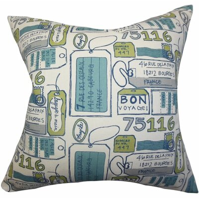 Reginy Typography Cotton Throw Pillow Color: Felix, Size: 22 x 22