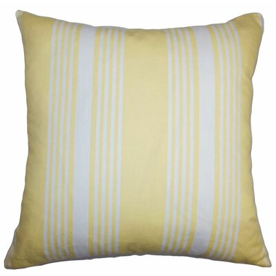 Perri Stripes Cotton Throw Pillow Color: Summer, Size: 22 x 22