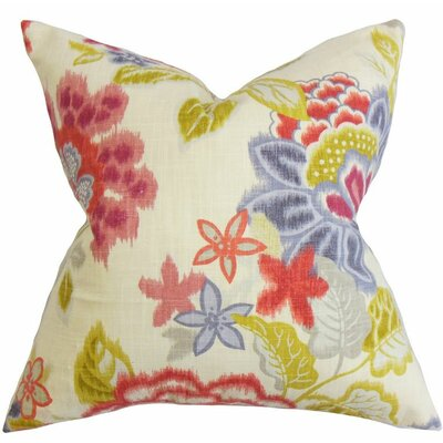 Vasant Floral Cotton Throw Pillow Size: 24 x 24