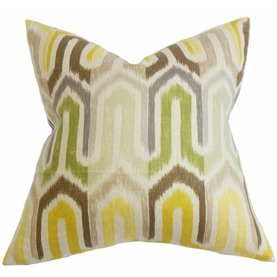 Wiley Geometric Linen Throw Pillow Size: 18 x 18