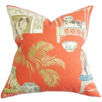 Colesville Animal Print Cotton Throw Pillow Color: Clay, Size: 24 x 24