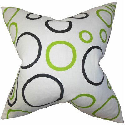 Curran Geometric Cotton Throw Pillow Size: 18 x 18