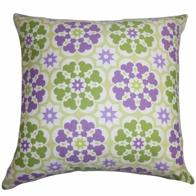 Eavan Floral Cotton Throw Pillow Color: Medal Purple, Size: 24 x 24