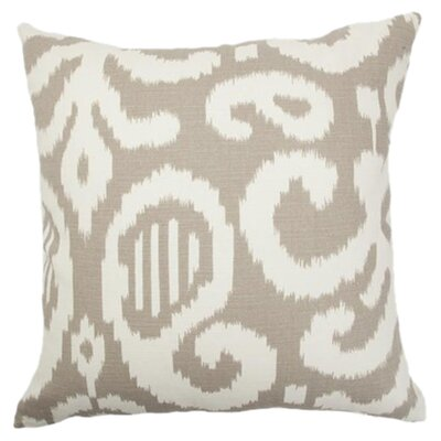 Teora Throw Pillow Color: Fog, Size: 18 x 18