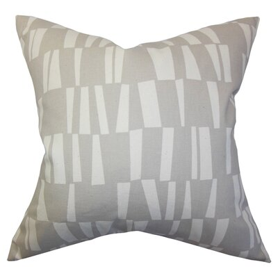 Iker Geometric Cotton Throw Pillow Color: Onyx Grey, Size: 20 x 20