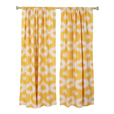 "The Pillow Collection Geometric Squares Rod Pocket Curtain Panels (Set of 2) - Color: Yellow, Size: 96"" H x 50"" W at Sears.com"