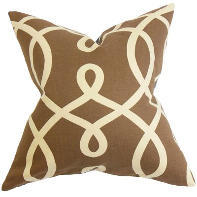 Chamblin Geometric Throw Pillow Cover Size: 18 x 18, Color: Chocolate