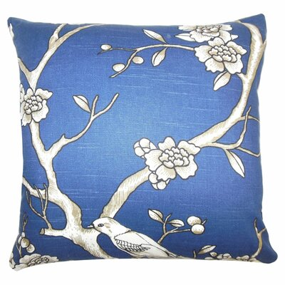 Mangels Floral Cotton Throw Pillow Color: Twilight, Size: 20 x 20