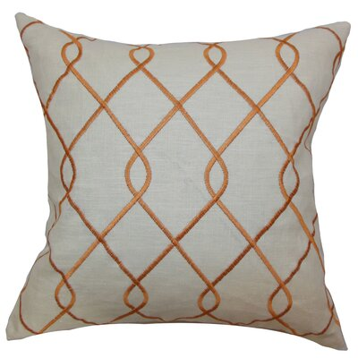 Jolo Geometric Bedding Sham Size: Queen, Color: Papaya