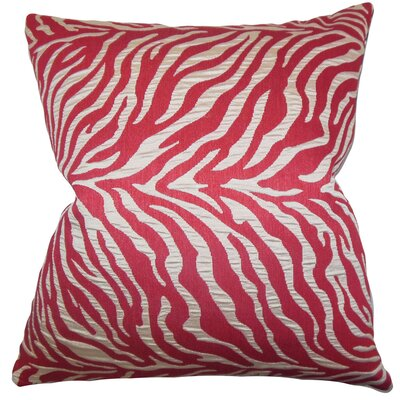 Helaine Zebra Print Throw Pillow Color: Pink, Size: 18 H x 18 W
