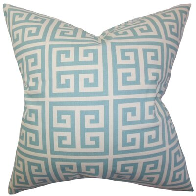 Kieffer Greek Key Bedding Sham Size: King, Color: Blue