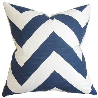 Eir Zigzag Bedding Sham Size: Euro, Color: Dark Blue