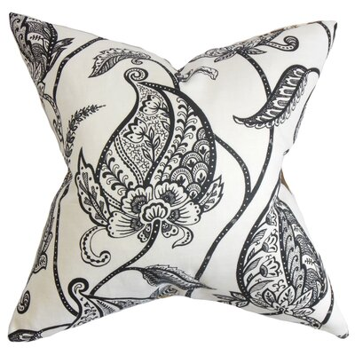 Chambliss Floral Throw Pillow Color: Black and White, Size: 18 x 18