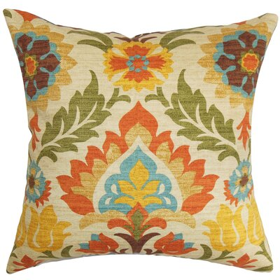 Eland Floral Cotton Throw Pillow Size: 18 H x 18 W