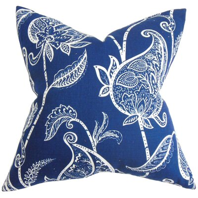 Chambliss Floral Throw Pillow Color: Blue, Size: 18 x 18