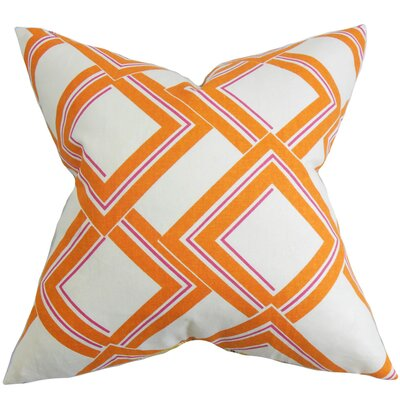 Jersey Geometric Throw Pillow Color: Dune, Size: 18 x 18