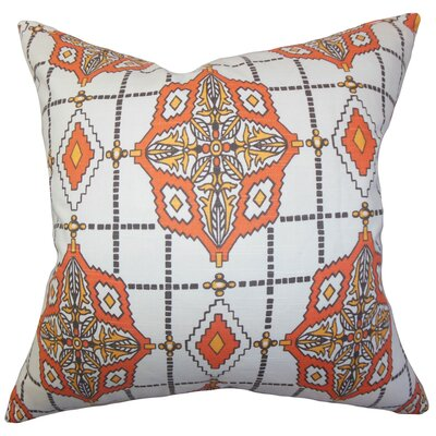 Huracan Geometric Cotton Throw Pillow Color: Chili Pepper, Size: 20 x 20