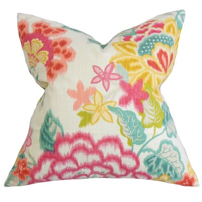 Lindsay Floral Cotton Throw Pillow Size: 24