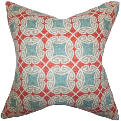 Warren Geometric Cotton Throw Pillow Color: Blue, Size: 24 x 24
